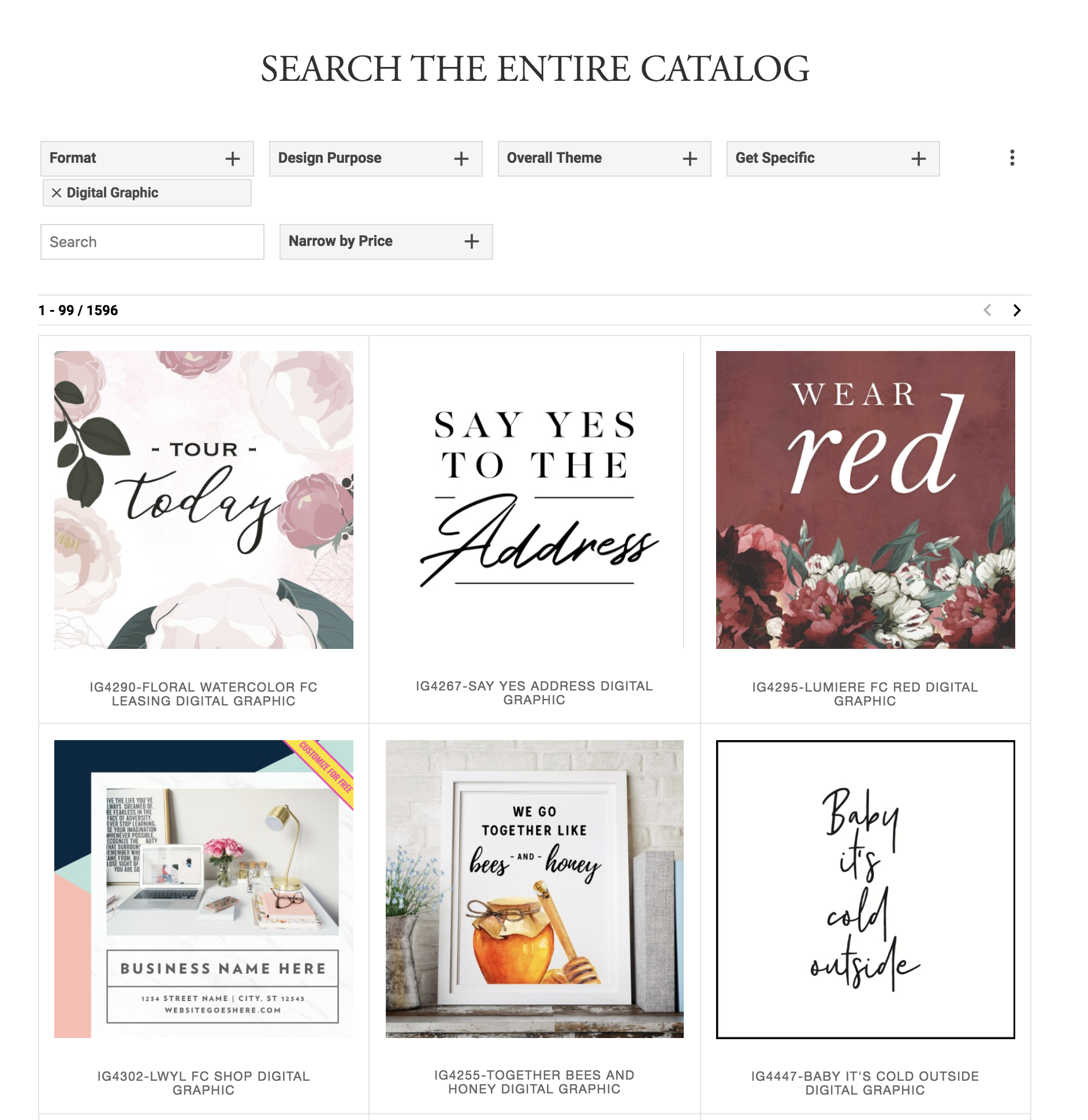 Grab your digital graphics from The Sprout catalog. Search  here . Select  Digital Graphics  under  Format .