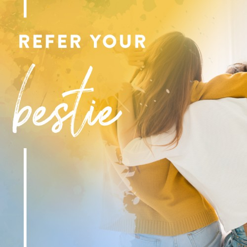 June 8 - #Bestfriendsday   Search:  Bestie or BFF  Where in the world would we be without our bff?! Mention them below to give them a shout out! Wouldn't it be nice to have your bff live by you? Refer and make it happen ;)