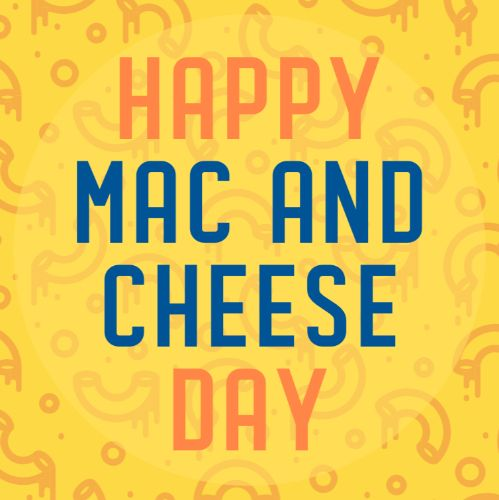 July 14th - #MacandCheeseDay   Search:  Macaroni  Few memories from childhood are as vivid as those homemade dishes. And I remember Mom's Mac and Cheese. The anticipation from smelling her make it. The impatience waiting for the bowl to cool. _________Apartments wants to hear your fav food memory for #MacandCheeseDay!