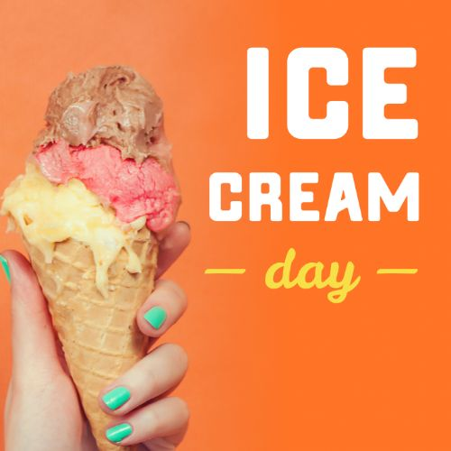 July 15th - #IceCreamDay   Search:  Ice cream  No summer is complete without a few ice cream cones and what better time to start than #IceCreamDay. Have you ever tried the  (favorite flavor)  from  @(local ice cream store) ? I know it's a favorite around our community.