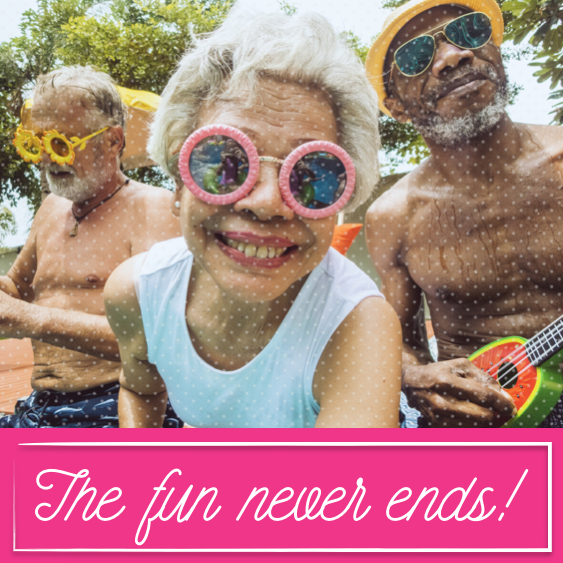 August 21st - #SeniorDay   Search:  SENIOR  Yep, the fun NEVER ends here at ______ Apartments! Did you know there are tons of places in our neighborhood that offer senior discounts?! Yes! Awesome, right?! A few of those places are: ___________  (names of restaurants, stores, etc. in your area that offer senior discounts).  We love our residents! 💗 #SeniorCitizenDay