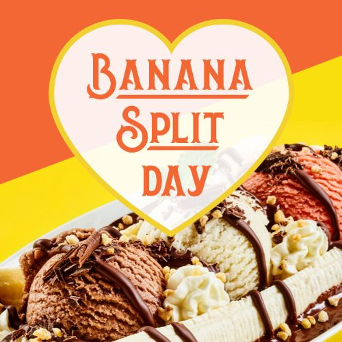 August 25th - #BananaSplitDay   Search:  BANANA  A very happy #BananaSplitDay to all of our residents here at ________ Apartments! Today we have a banana split bar in the clubhouse, swing by and build your own! If you want to make one at home, here's a fancy shmancy recipe for you to try:  1 medium banana, peeled and split lengthwise  1 scoop each vanilla, chocolate and strawberry ice cream  2 tablespoons sliced fresh strawberries or 1 tablespoon strawberry ice cream topping  2 tablespoons pineapple chunks or 1 tablespoon pineapple ice cream topping  2 tablespoons whipped cream  1 tablespoon chopped peanuts  1 tablespoon chocolate syrup  2 maraschino cherries with stems