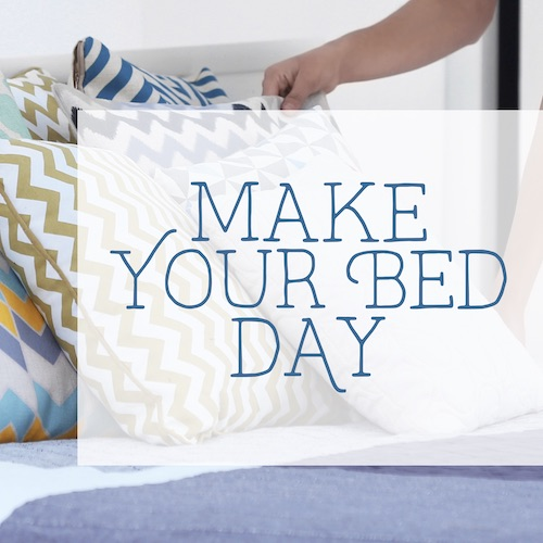 """September 11th - #MakeYourBedDay   Search:  BED  #MakeYourBedDay is a tough one for us… Not sure we want to celebrate it lol. """"Namastay in bed"""" today for sure. ☺️ If you did decide to make your bed today, CONGRATS! Keep up the good work! If not… there's always tomorrow! Happy #MakeYourBedDay from _________ Apartments!"""
