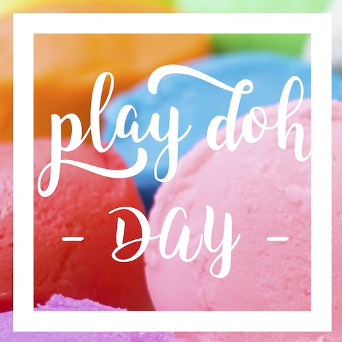September 16th - #PlayDohDay   Search:  PLAY  Life is sort of like Play Doh. We can mold it and shape it anyway we like. If it doesn't work, we can roll it up in a ball and start again! Let's be like Play-Doh. Flexible, colorful, and fun! Happy #PlayDohDay ! Residents at ___________ Apartments, stop by the office for a squishy treat!