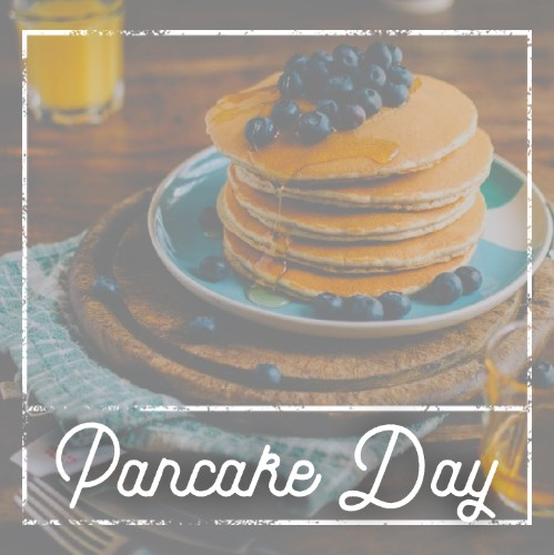 September 26th - #PancakeDay   Search:  PANCAKE  How do you make a pancake smile? (comment your answers below) #PancakeDay is a BEAUTIFUL day! Are you celebrating? There's this great spot called _______ (name of restaurant) that makes ah-mazing fluffy pancakes on _______ Street - stop by today, you won't be sorry.  (Answer: You butter it up!)