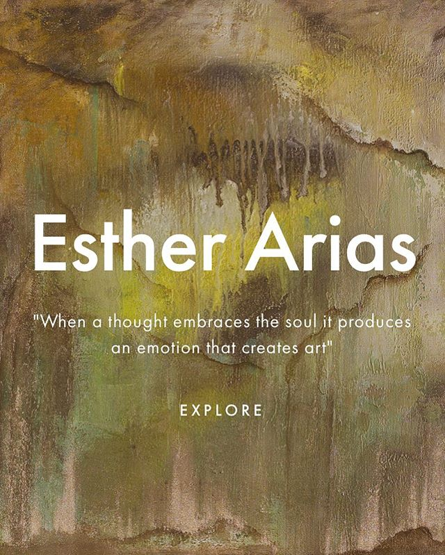 """When a thought embraces the soul it produces an emotion that creates art"" - Esther Arias.  Stay tuned for exciting news!! 🤩 #art #artist #abstractart #contemporaryart #abstracto #contemporaneo #arte #collectors #collecteurs #deco #inspohome #squarespace"