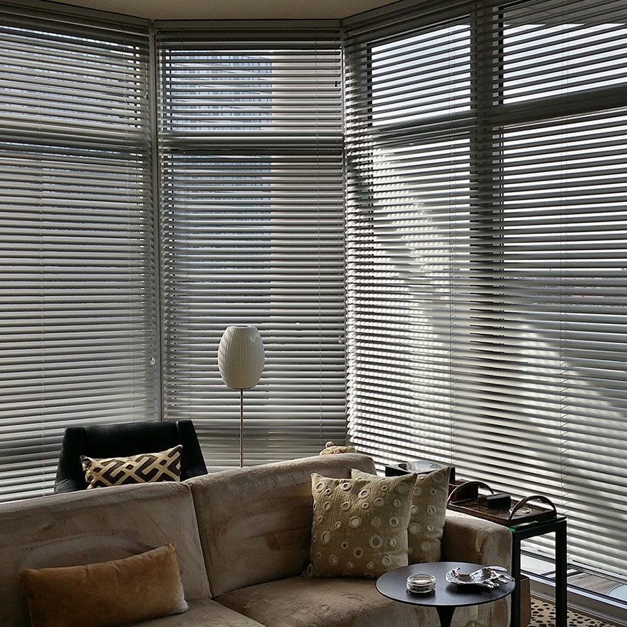 Aluminum Blinds   Uniquely modern and vintage all at once, Aluminum blinds come in a rainbow of colors for instant design on a dime. Dust resistant, great for residential or commercial use. Economical to premium, this is a style for any application.