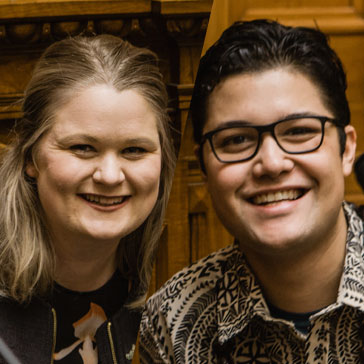 Sarah Gwynn &  Josiah Tualamali'i     Talk to me about   increasing Youth voice, assisting Pacific youth and how to participate in democracy.