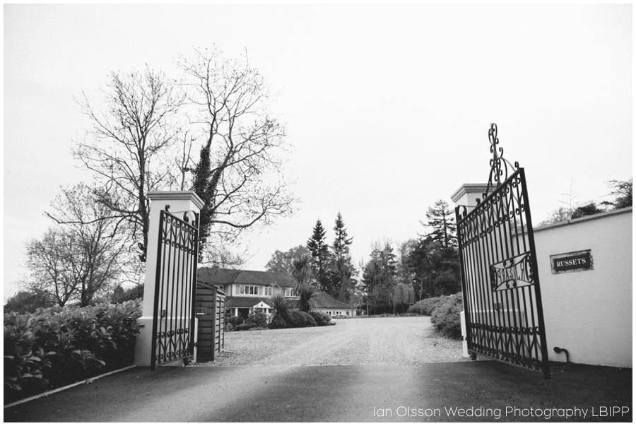 Joanne & Russell's Wedding at Russets Country House in Chiddingfold Surrey 2