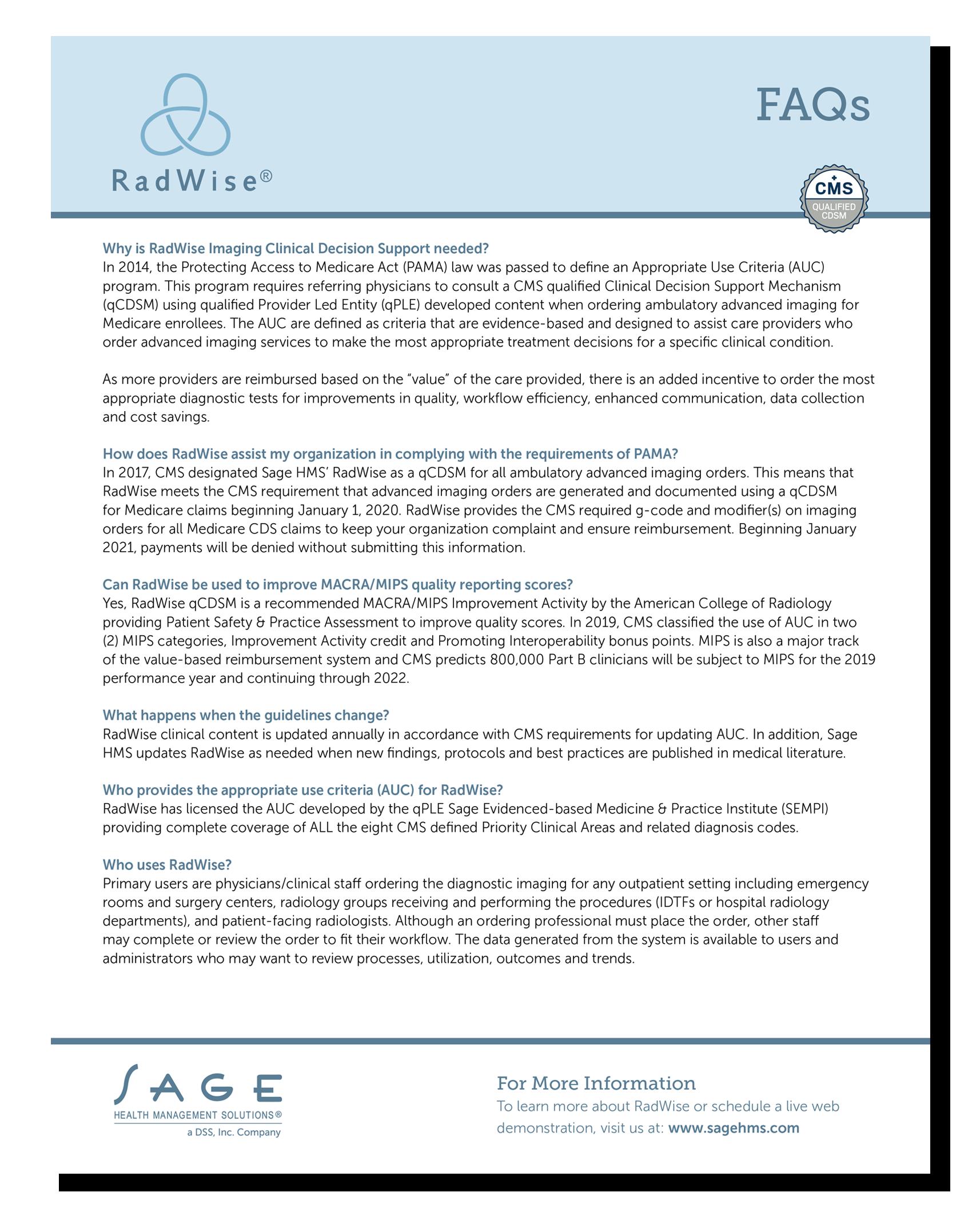 RadWise FAQs