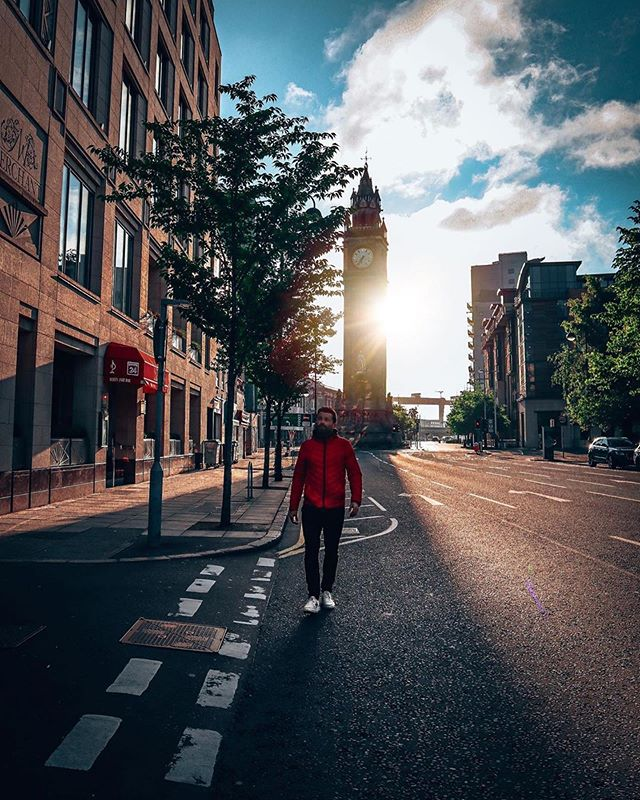 "🚶🏻‍♂️Strolling into the weekend 😍 ""☘️ So I was in Belfast twice at the weekend. The one time I did get off the ✈️ I checked this out - Belfast's very own leaning tower of Pisa, the Albert Clock. You can't see it here but she's seriously out of plum, in the city centre and well worth a photo or two. If you like clocks. 😎 And towers."" - @conormccully ——————— Follow 👉🏼 @conormccully ——————— . . . . . #belfast #visitbelfast #tourismireland #belfastcityhall #lovebelfast #gramslayers #giantscausway #ourbelfast #northernireland #discoverni #belfastcity #titanic #titanicbelfast #discoverireland #ireland #sunrise #visitireland #belfastfood #travelblogger #belfastireland #visitni #discovernorthernireland #igersbelfast #ukpotd #ukshooters #goldenhour #sunset #fotocatchers #niexplorer"