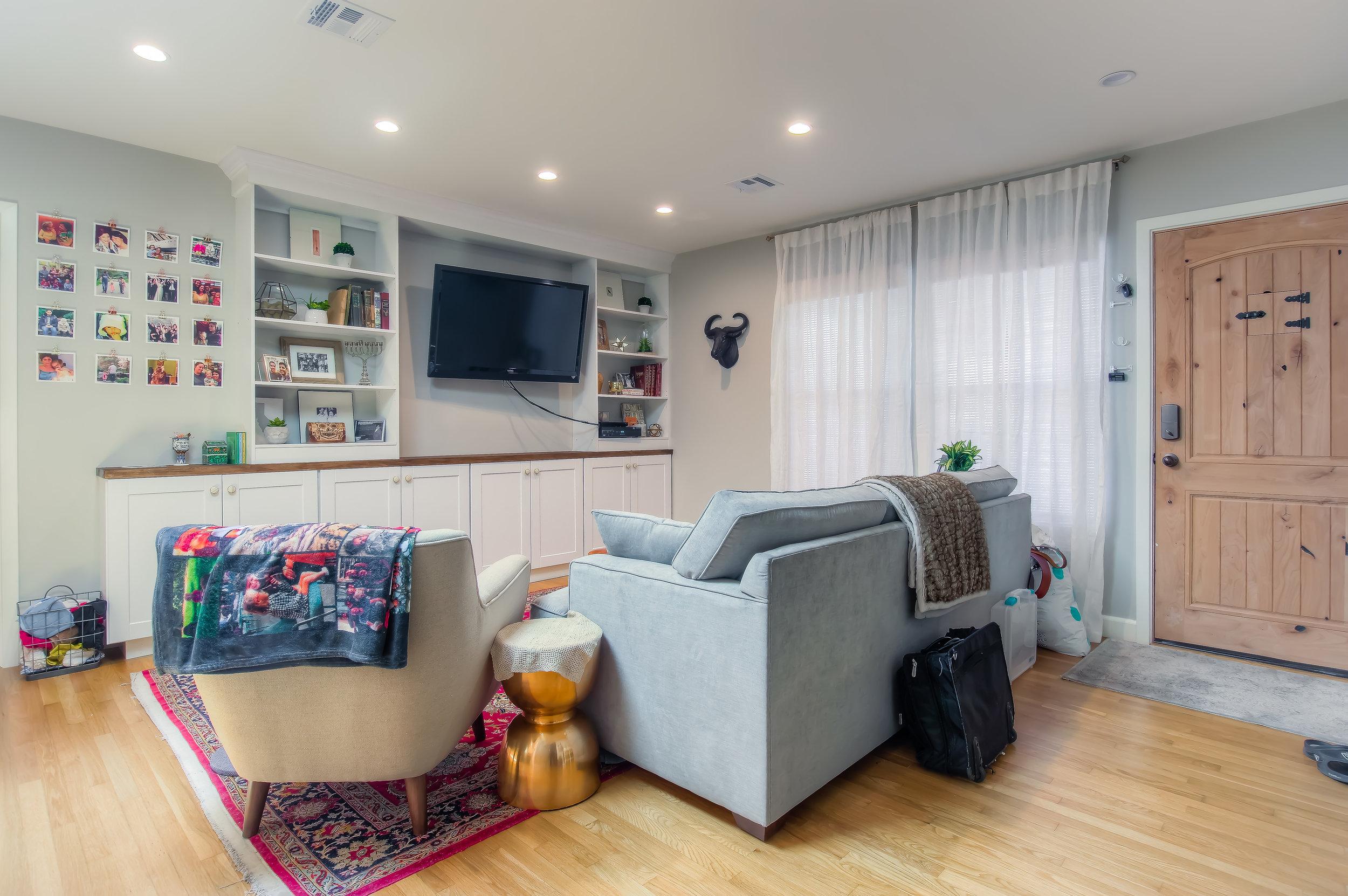 Altadena cottage bright and bold living room remodel