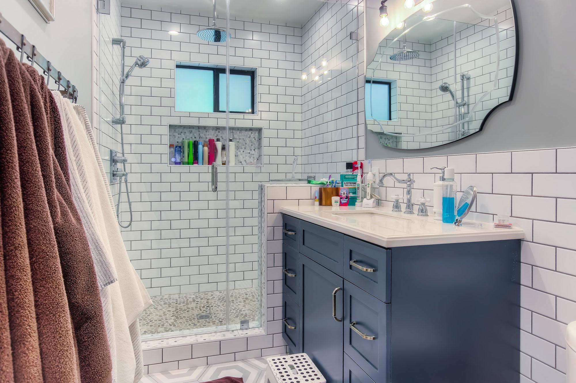 Altadena cottage master bathroom remodel