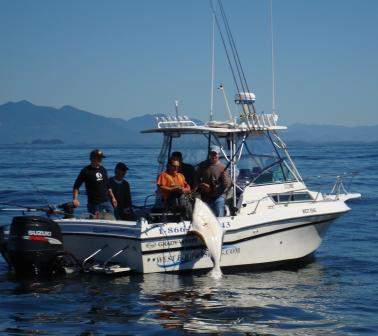 West Edge Charters - Salmon & Halibut Charters Boat - Grady White