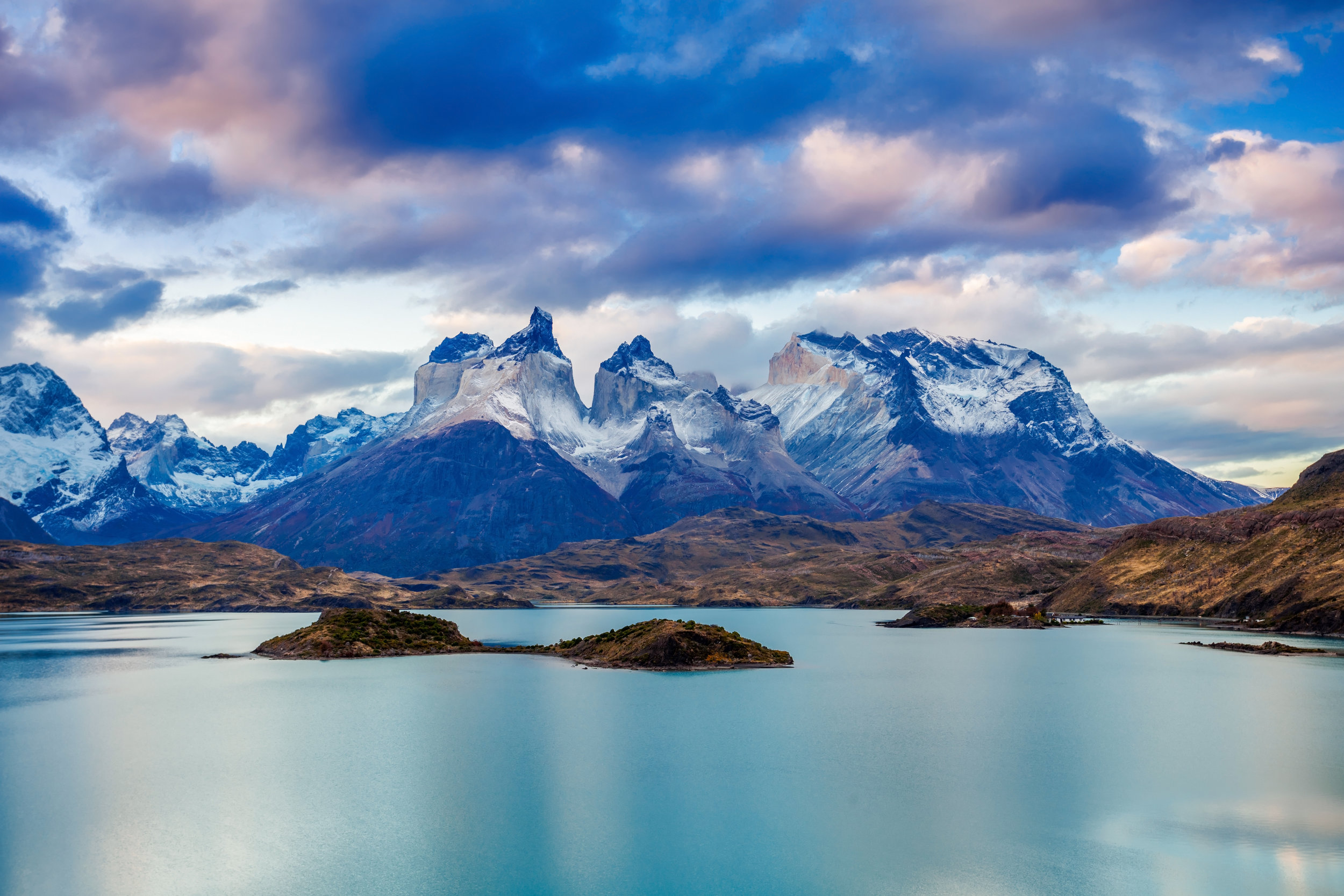 Patagonia is the world's ultimate frontier. A remote wilderness, this area is home to wind-swept plains, twisting forests, granite spires, massive glaciers & incredible wildlife.Torres del Paine National Park is Patagonia's crown jewel. With an incredibly varied landscape that revolves around its famous 8200 ft mountain pillars, this area is rich for exploration and you will find a myriad of forests, lakes, plains, rivers and ice fields to relish in. -