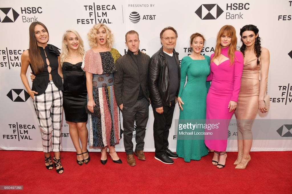NEW YORK, NY - APRIL 23: (L-R) Elena Ghenoiu, Jemima Kirke, Lola Kirke, Scott Caan, Billy Crystal, Emma Forrest, Alice Eve and Chloe Catherine Kim attend the screening of 'Untogether' during the 2018 Tribeca Film Festival at SVA Theatre on April 23, 2018 in New York City. (Photo by  Michael Loccisano/Getty Images  for Tribeca Film Festival)