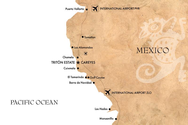 Careyes Map