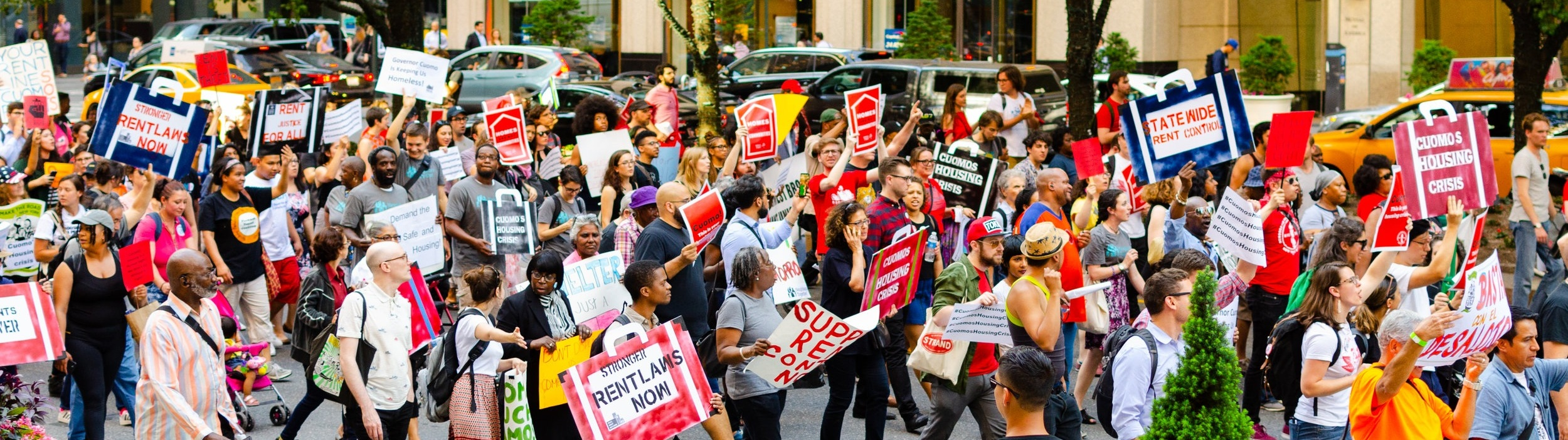 A Housing Justice for All protest in New York