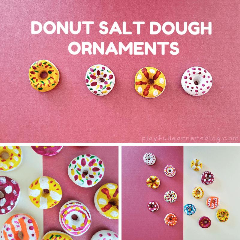 donut salt dough ornaments