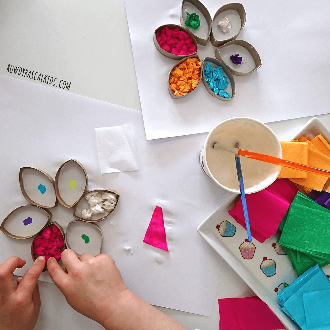 colour sorting flower craft