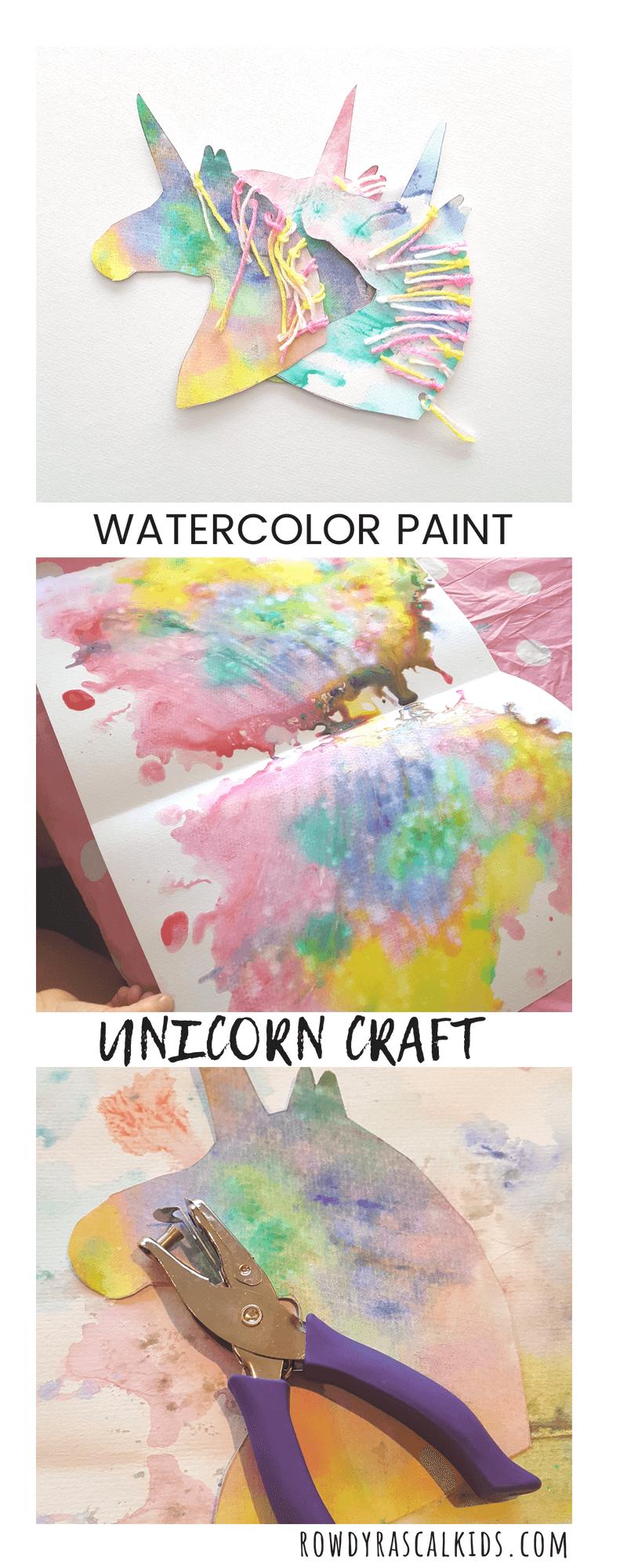 Watercolor Unicorn Craft