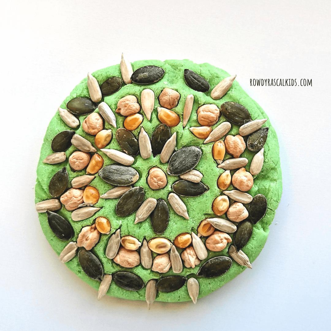 playdough mandala art