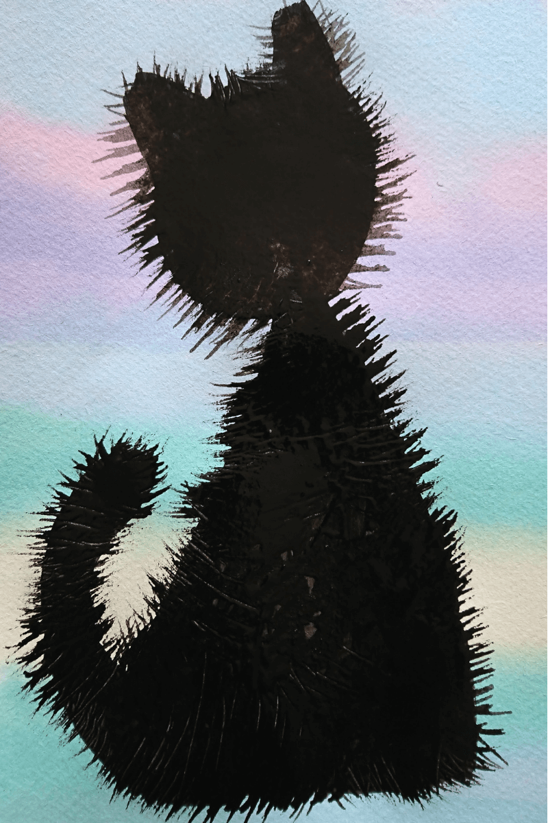 cat silhouette artwork