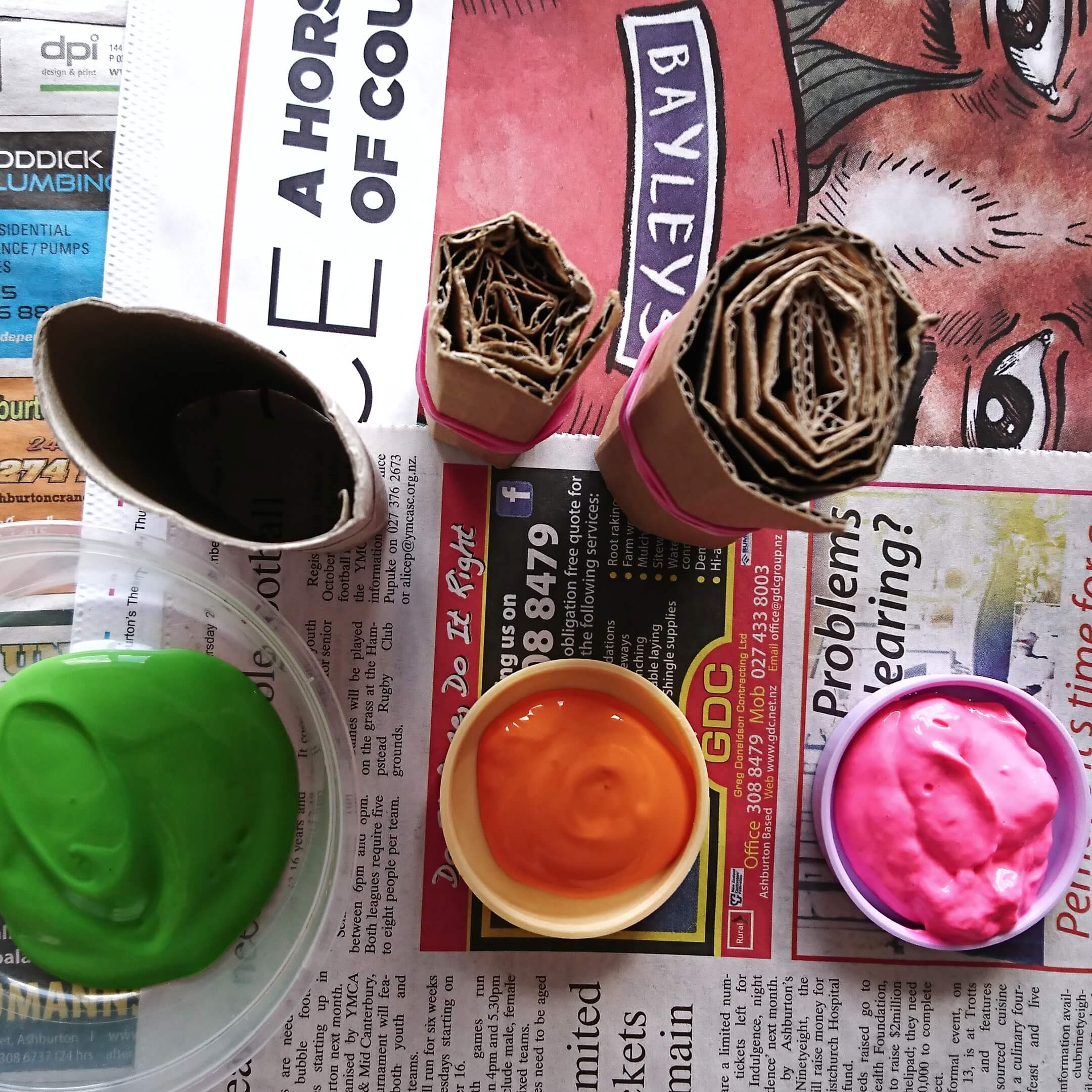 flower paint stamps