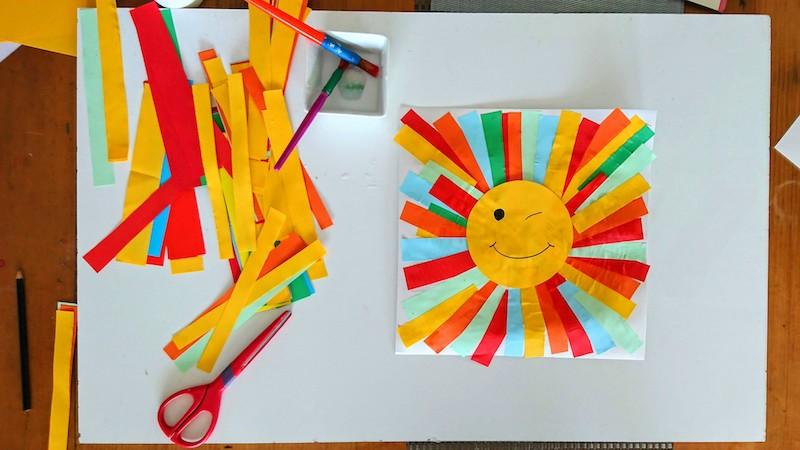 Fun Paper Strips Sun Craft For Kids Rowdy Rascals