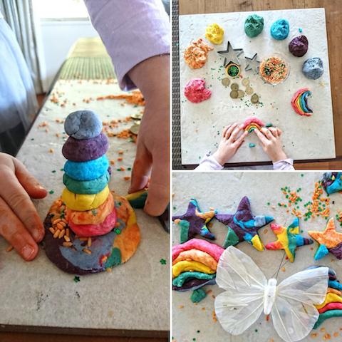 rainbow playdough invitation