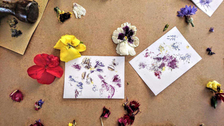 flower stamps prints