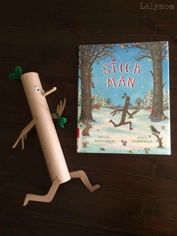 Recycled Cardboard Roll Stick Man craft