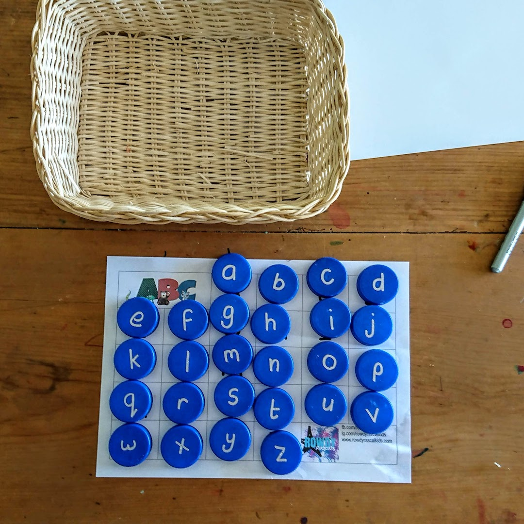 bottle top letter match