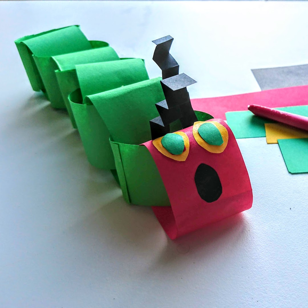 hungry caterpillar paper chain