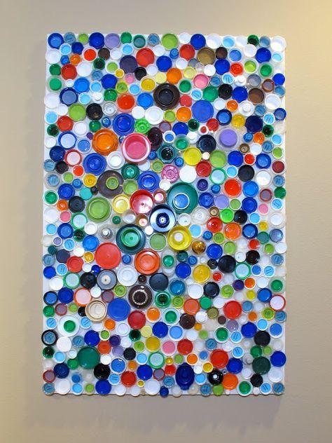 Plastic Bottle Cap Mosaic