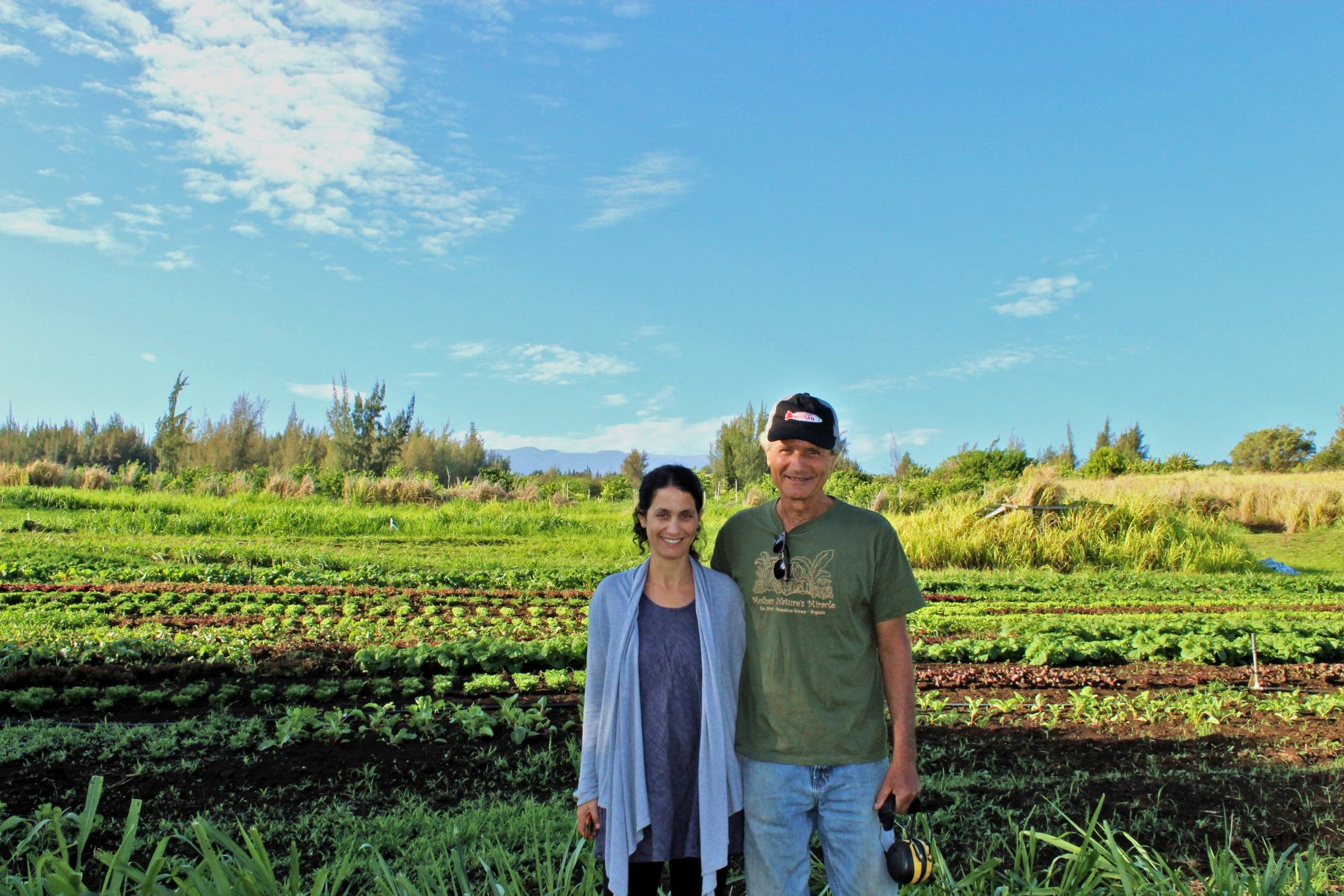 Shahar Groode, Office Manager, and her father and Owner/Farmer of Mother Nature's Miracle, Michael Manor.