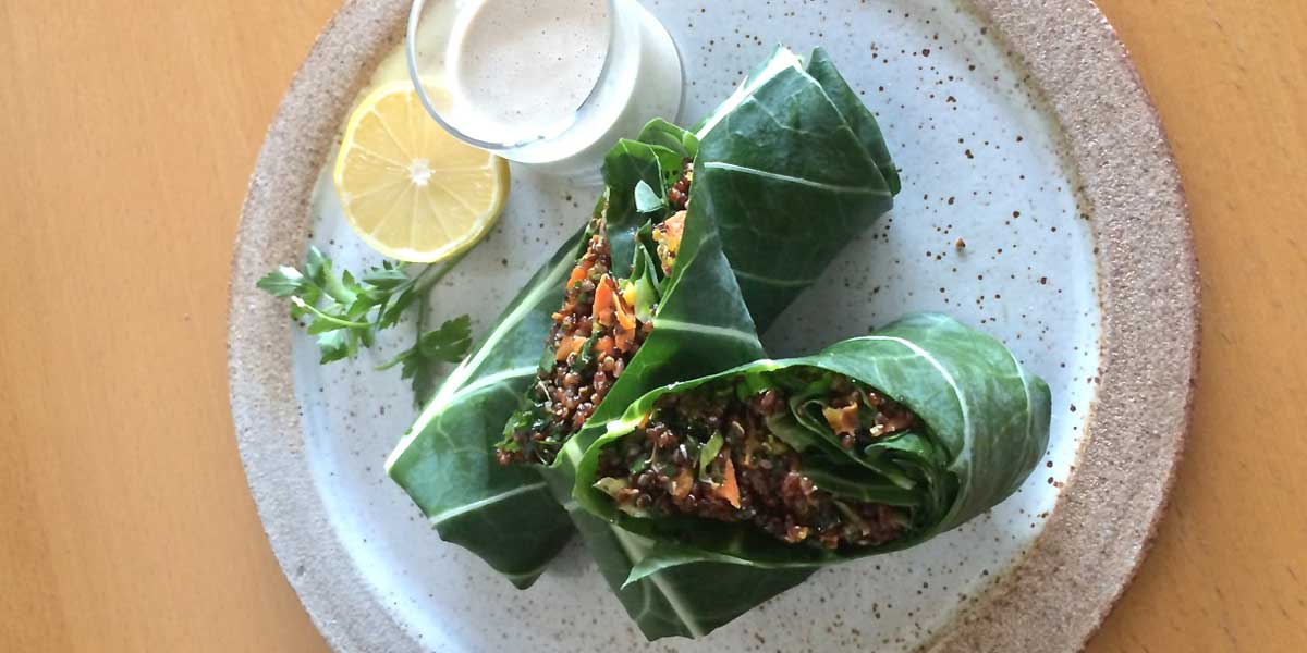 Sexy Lunch Club Quinoa Collard Wraps