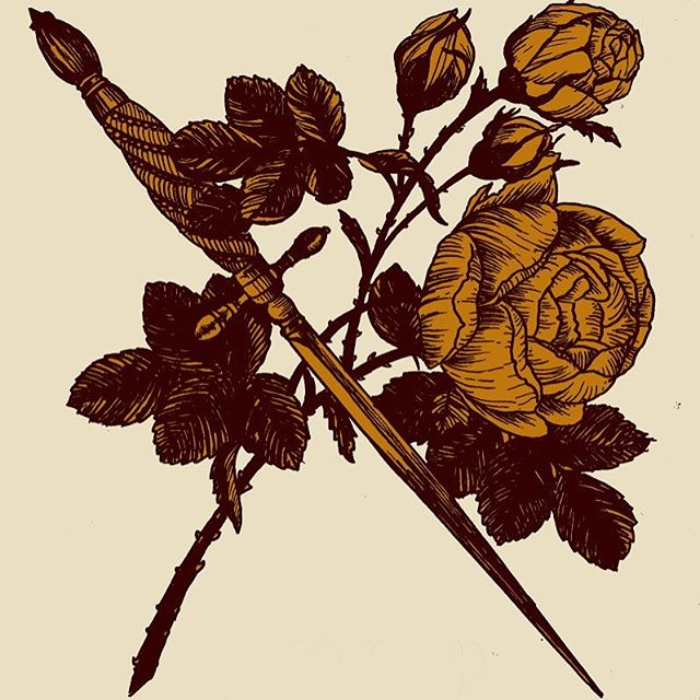 Dagger & flower  @chopshops