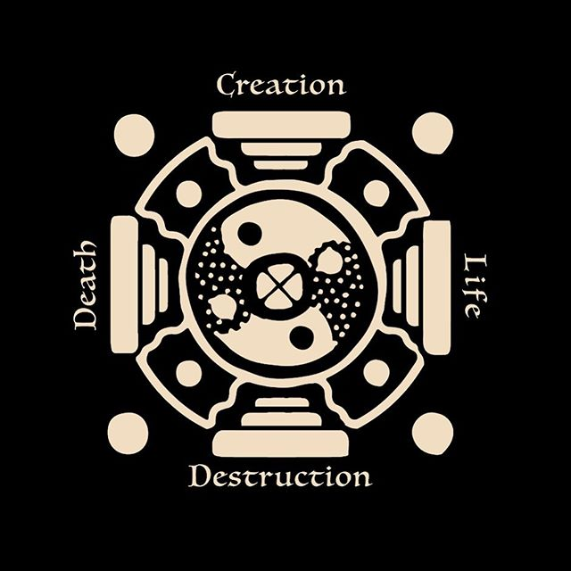 'Creation Destruction  Life Death Yantra' . . . . . #design#symbol#art#life#death#creation#destruction#yantra#magnumopus#eyaleliezer#studio