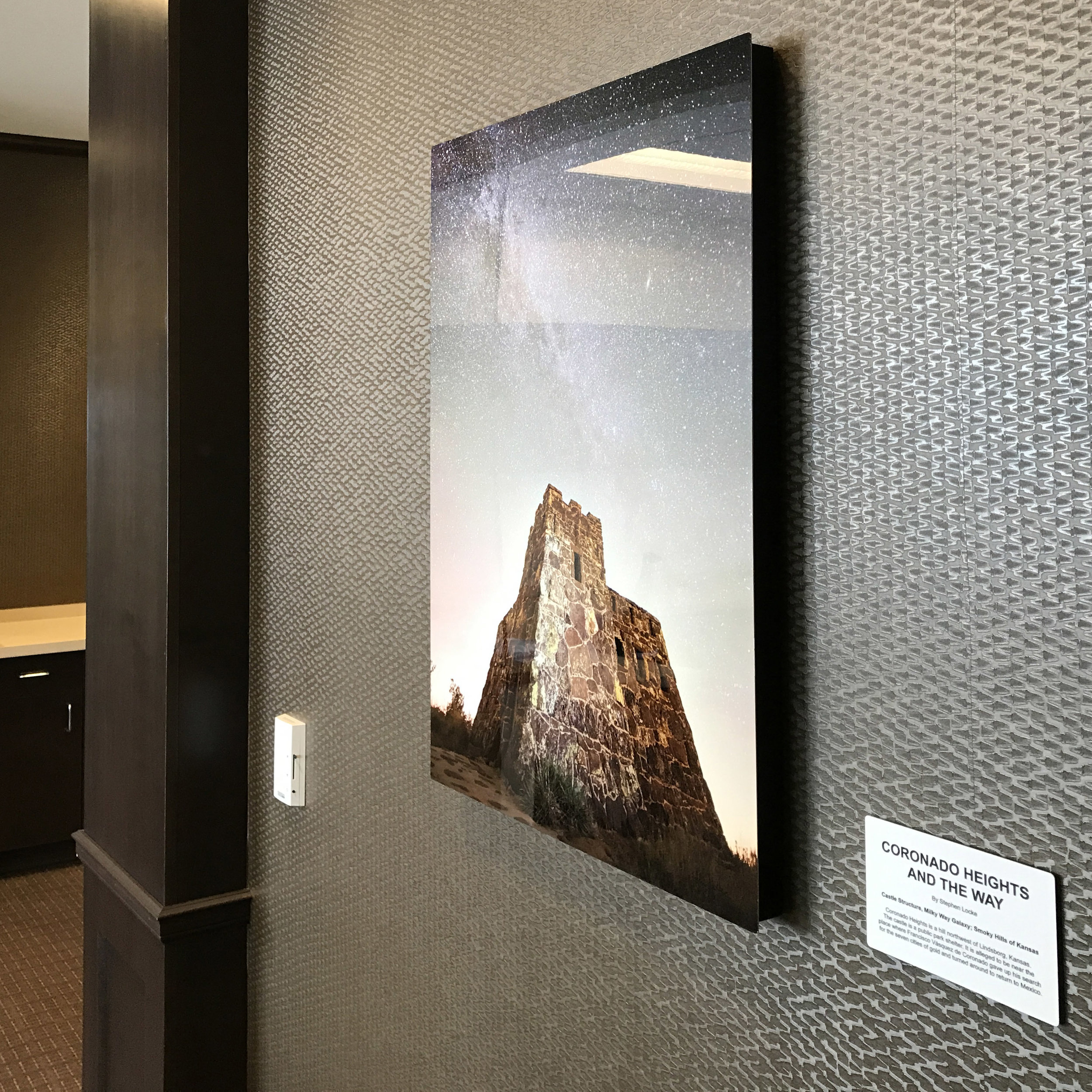 Coronado Heights and the Way in situ at KCB 30 x 20 on metal