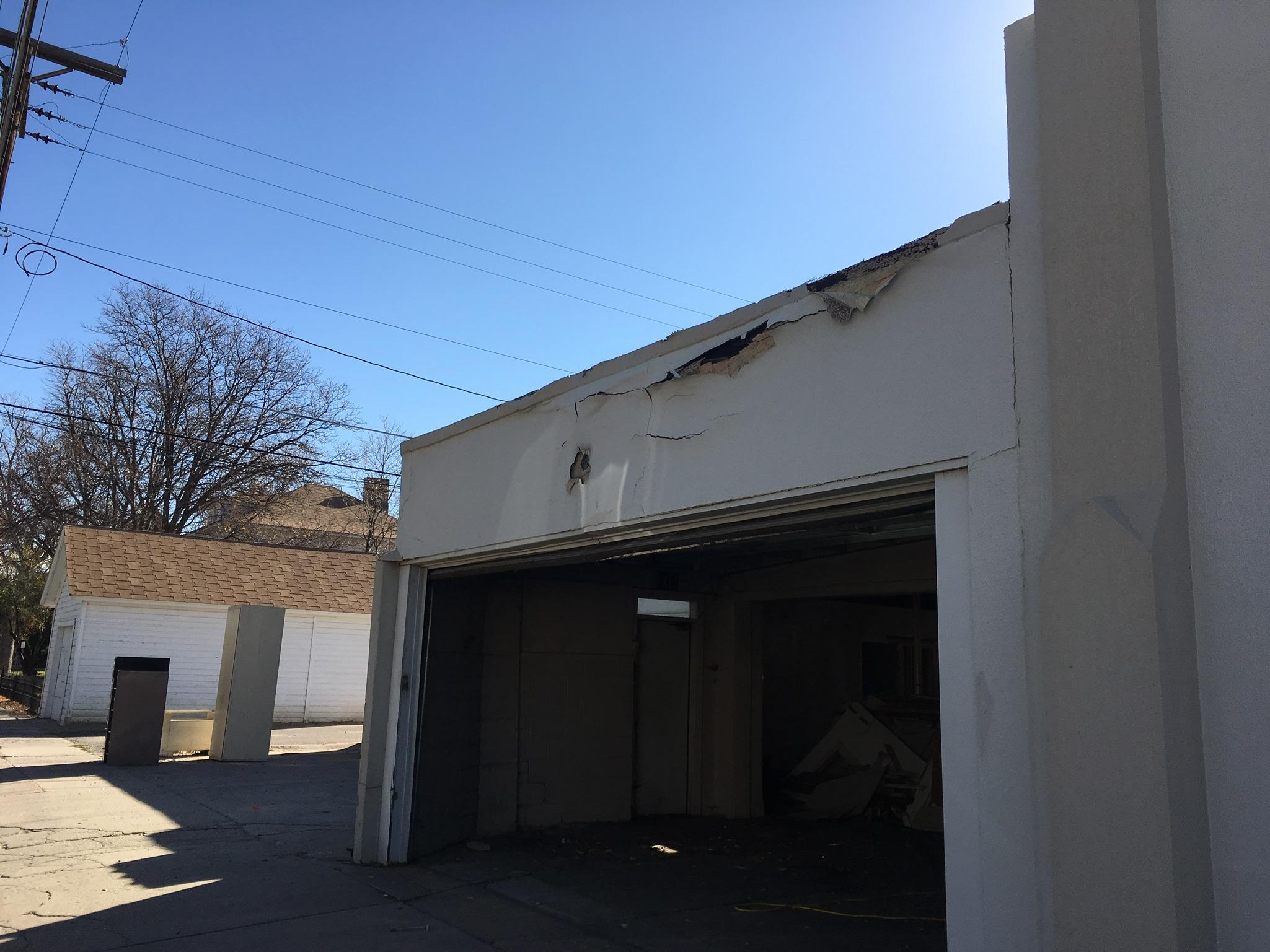 Alli Event Center, Brighton Co exterior renovation - from garage to kitchen.
