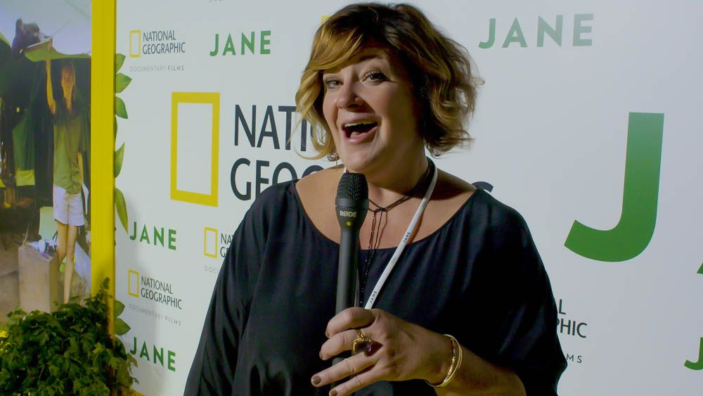 On the Yellow Carpet at the premiere of National Geographic's documentary 'Jane' at the Hollywood Bowl, October 2017.