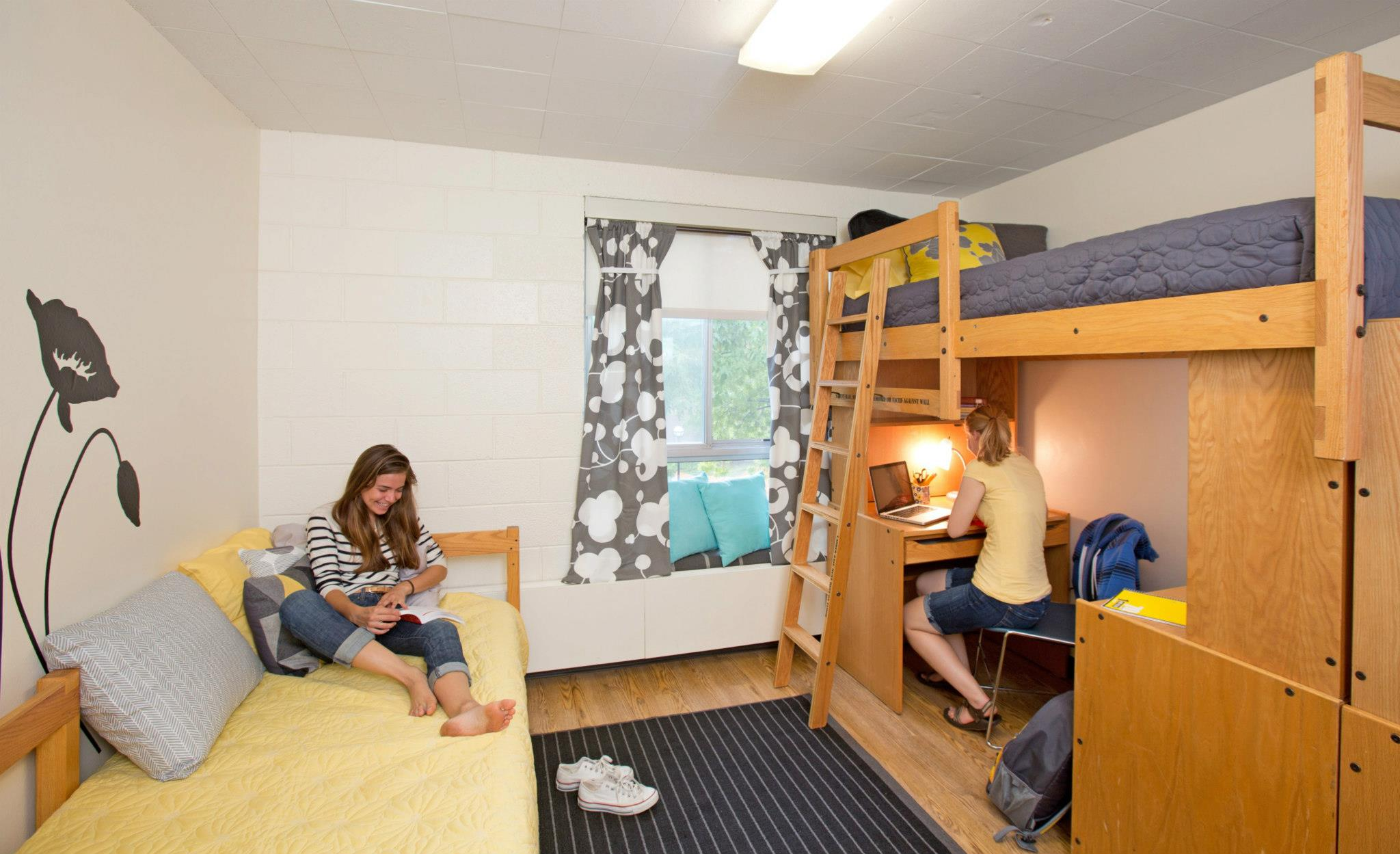 University Housing - Resident adviser and maintenance staff are available to call for assistance and maintenanceAmenities include study rooms, game rooms, music practice rooms, kitchens, etc.