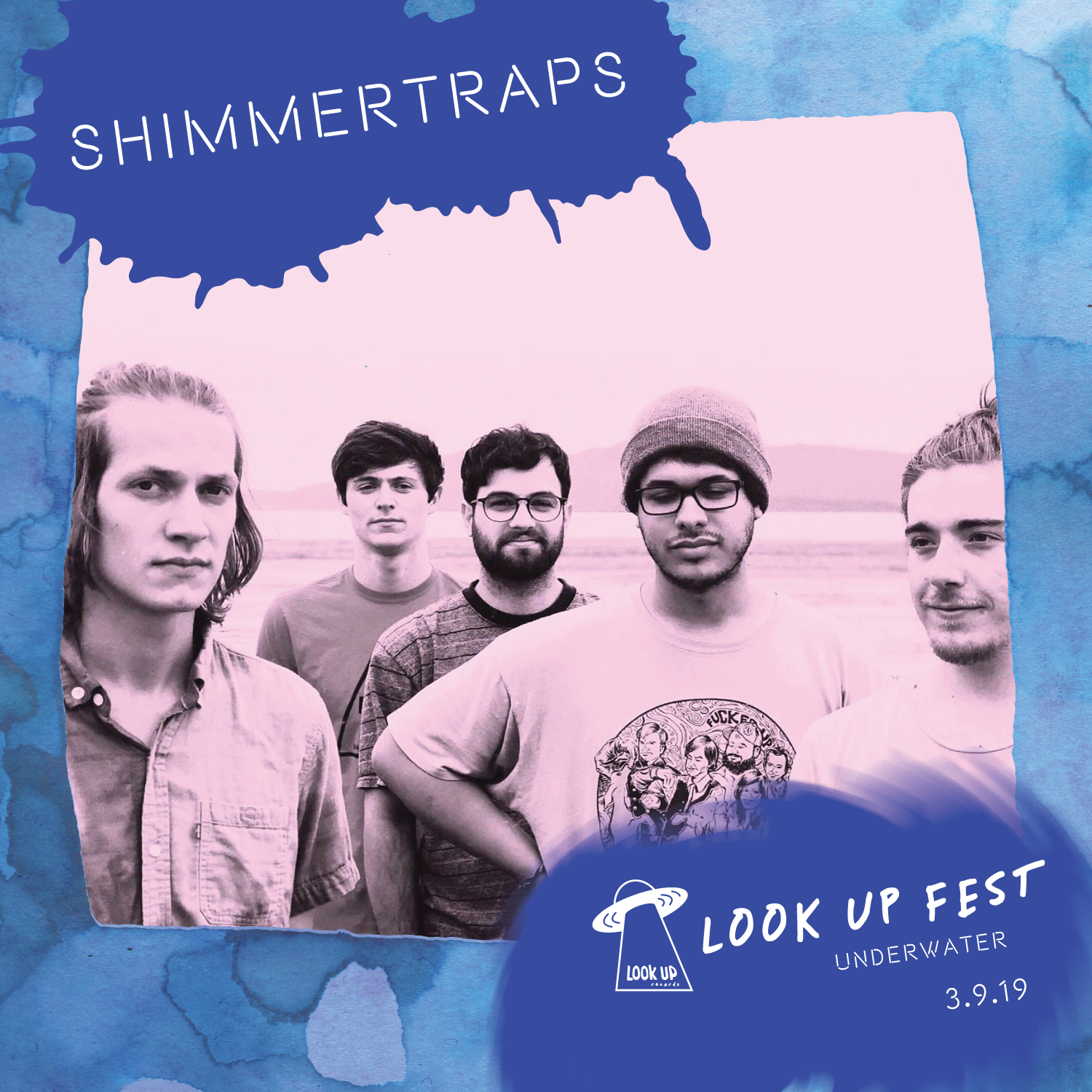 SHIMMERTRAPS - Shimmertraps is a five-piece band that blends indie rock, psych, and dream pop music into their own sound. Based in Bellingham, WA, the band was started as a recording project by Zack Moses and Kyle Menne in 2016. Paying equal attention to both music and imagery, they bring together a combination of eclectic sounds and pleasing visuals.