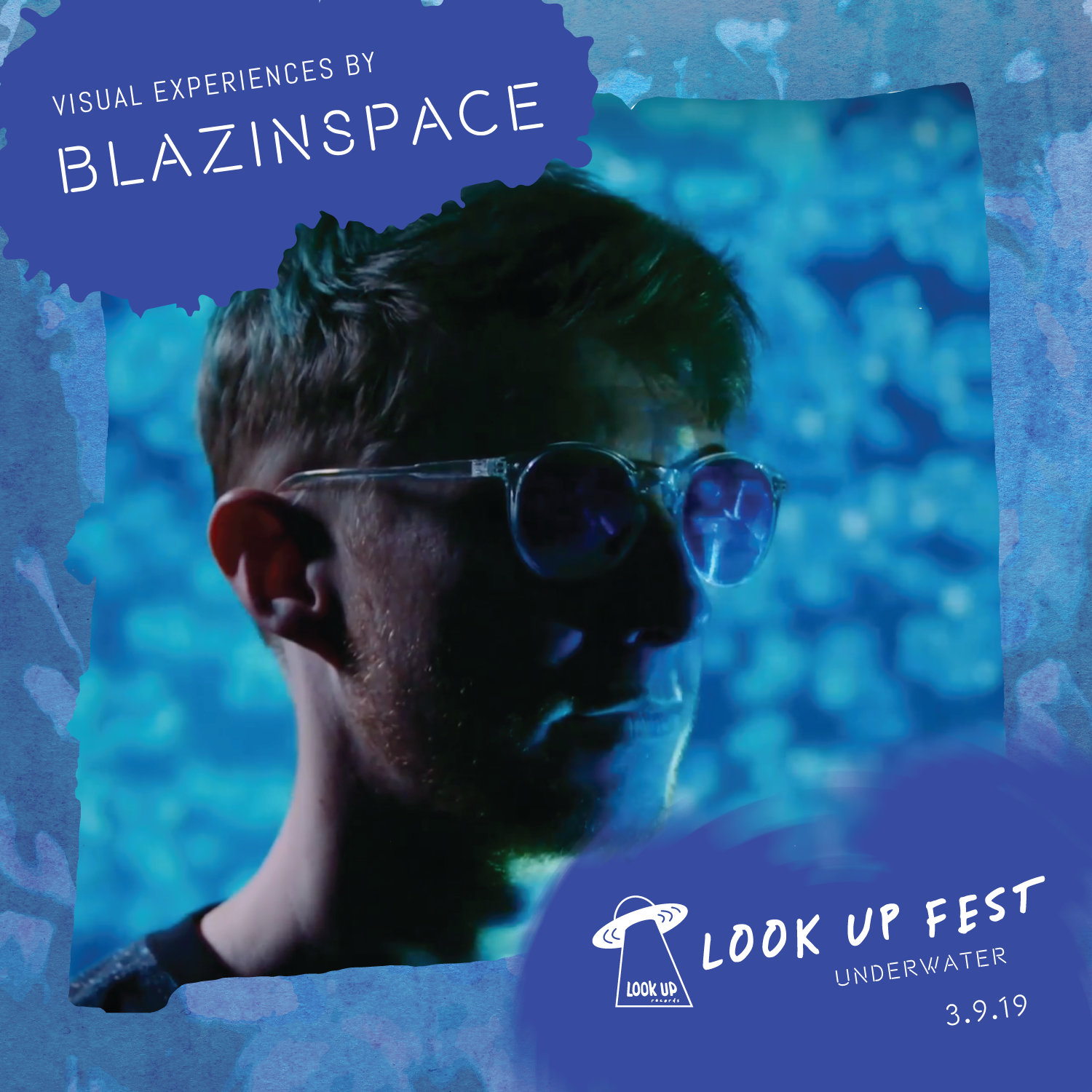 BLAZINSPACE - Blazinspace is a local VJ that creates great live visuals, music videos, and stories. At Look Up Fest: Underwater he'll set things ablaze with underwater light experiences, submerging our visual senses into the watery depths with stunning floor-to-ceiling projections.