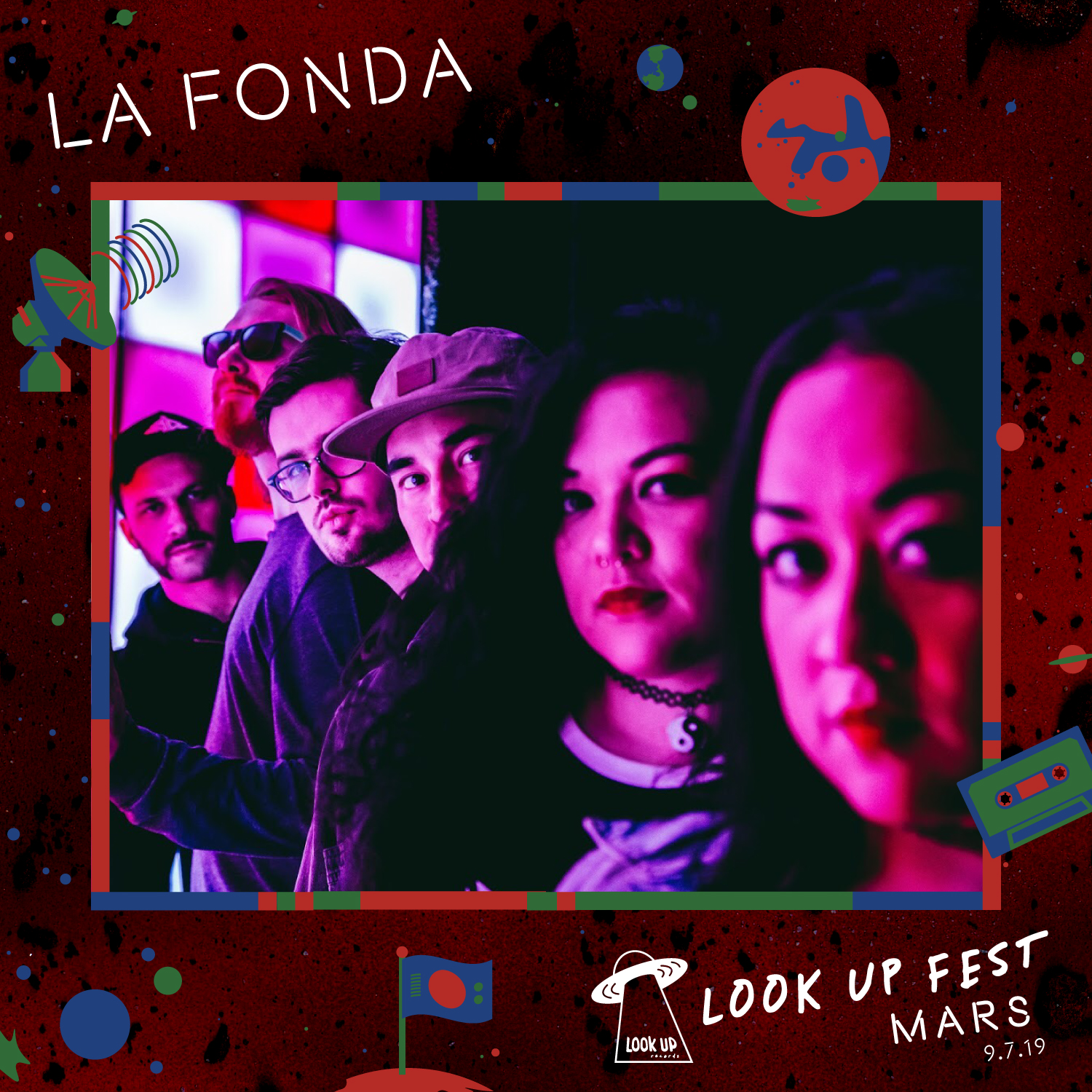 LA FONDA - La Fonda is a lyrically-driven indie dream pop band, defined by sister singer-songwriters Veronica and Valerie Topacio, exploring love, longing and loss with harmonically rich vocals, reverberating, 60s surf-esque guitars, driving bass lines and synths. Now working on their debut, full-length album, which set to release in late 2019, La Fonda's songs are about living paycheck-to-paycheck, heartbreak and healing, the lingering effects of infidelity, stripped confidence, and adolescent traumas. The band hopes their music steers people closer to their core, reminding listeners that the world needs more people dedicated to showing up fully in love and life as their most authentic, confident and beautifully vulnerable selves.