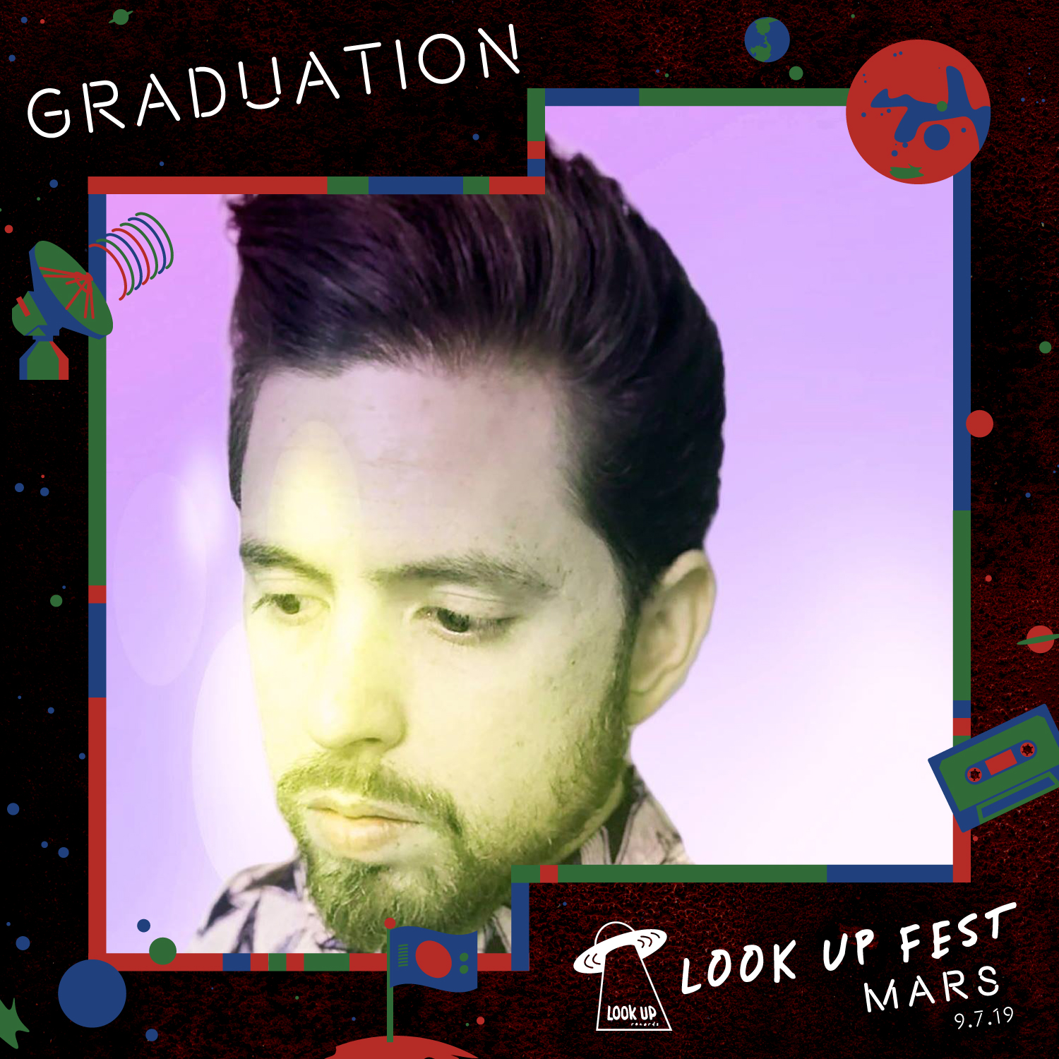 """GRADUATION - From touring in bands that idolized Refused and At the Drive In, to mimicking the sounds of the Shoegaze noise aficionados of the 90's, Adam Piddington has always embodied the sounds of his idols. His band Daysleeper indulged in loud fuzzed out guitars not unlike Sonic Youth (album was mixed by Alex Newport who also produced At the Drive In's In/Casino/Out"""") while Lanterns played their best versions of rock'n roll epics similar to the Smashing Pumpkins. But not until recently, after years in his home studio, has Adam stumbled upon what is Graduation, an amalgamation of all his influences. With inspiration from Dilla, to My Bloody Valentine, Graduation was born. A project that bodes lush synths, dreamy vocals, and melodies reminiscent of 60's psych pioneers The Beach Boys."""