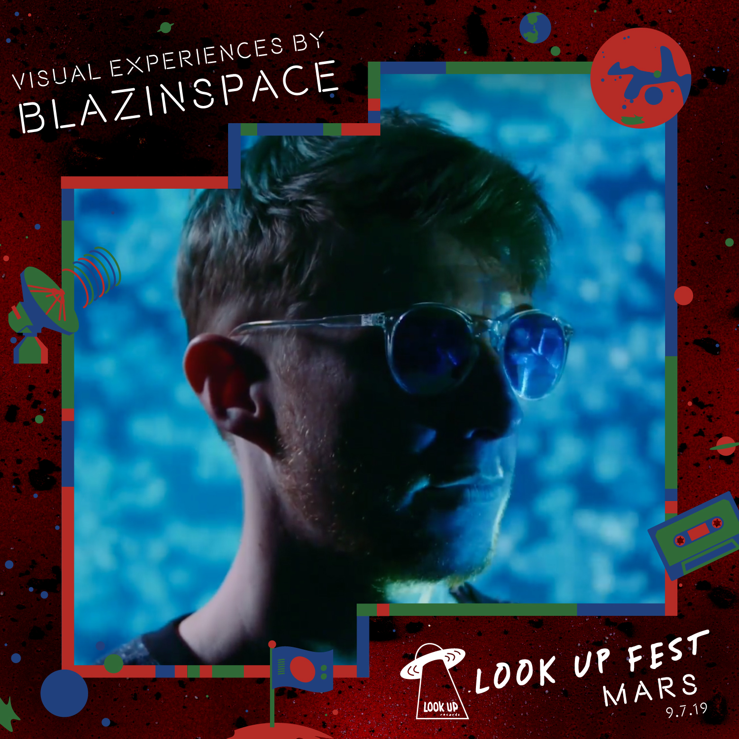 BLAZINSPACE - Blazinspace is a local VJ that creates great live visuals, music videos, and stories. At Look Up Fest: Mars he'll set things ablaze with Martian landscapes, teleporting our minds to the red dusty rock planet with stunning floor-to-ceiling projections.