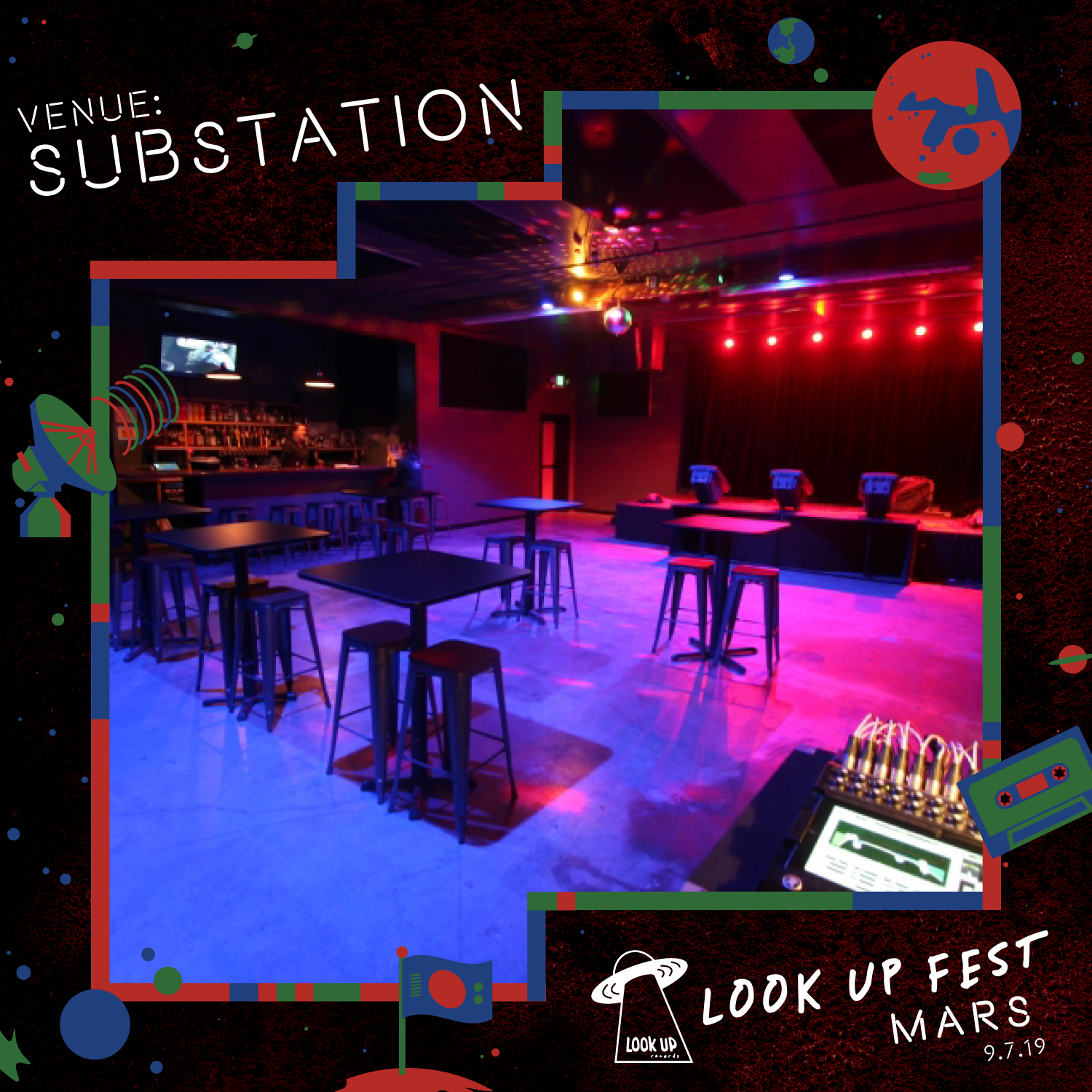 SUBSTATION - We're excited to host this event at Substation, a staple venue in Fremont/Ballard with a track record of supporting the DIY and weird. We've booked three large rooms; two for alternating music stages and one for interactive stuff.