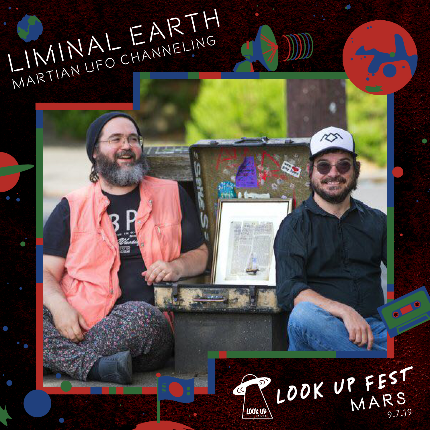 LIMINAL EARTH - A map of the strange, wonderful, unusual, and unexpected. Liminal.Earth (originally Liminal Seattle) is a curated map maintained by the Society for Liminal Cartography. At Look Up Fest: Mars, Liminal Earth will summon a Martian UFO using a ritual magic, Powerpoint presentation, and audience participation with interactive soundscapes and weird HAM radio props. This will be their 3rd Look Up Fest!